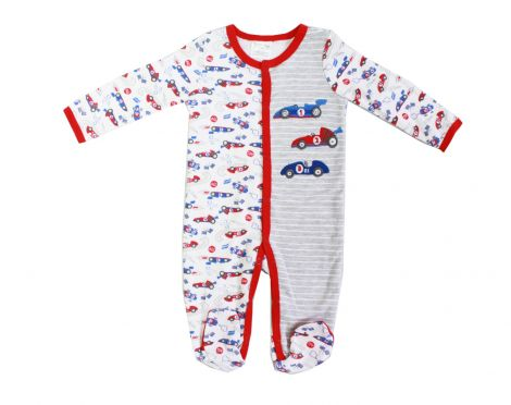 "Baby Mode boy's sleeper ""Race Cars"""