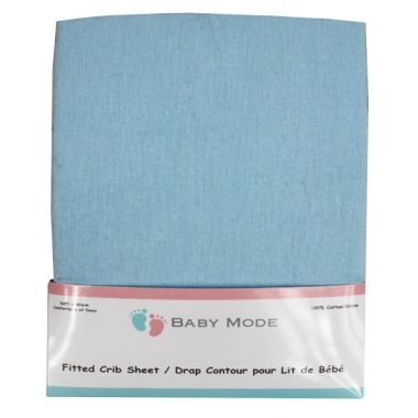 Baby Mode flannel crib sheet