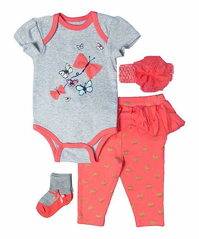 Baby Mode infant girl's 4 piece set