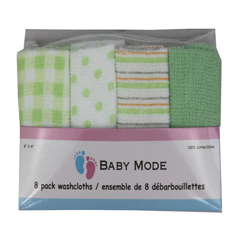 Baby Mode 8 pack washcloths