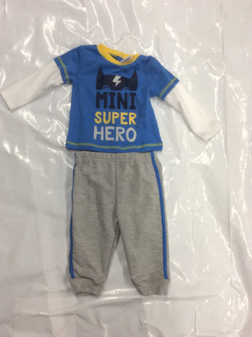 Baby Mode infant boy's 2-piece jog set