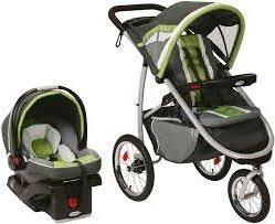 Graco Fast Action Fold Jogging Travel System With Snugride 35 Car Seat