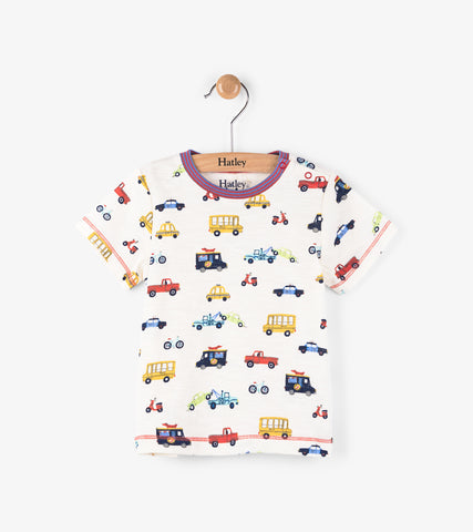 Hatley infant boy's Rush Hour t-shirt