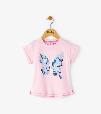 Hatley girl's butterfly t-shirt