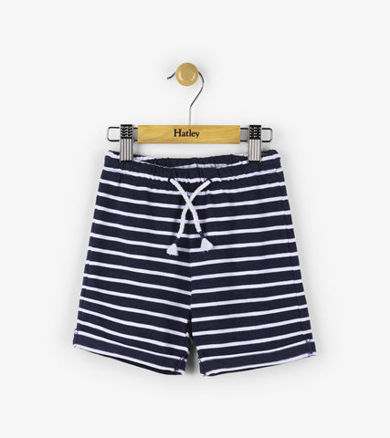 Hatley infant boy's navy stripe short