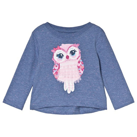 Hatley infant girl's owl top