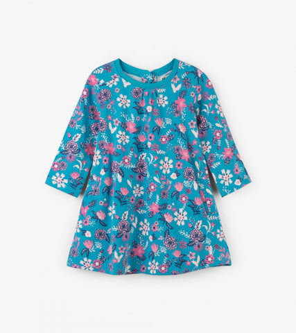Hatley infant girl's soft flowers dress
