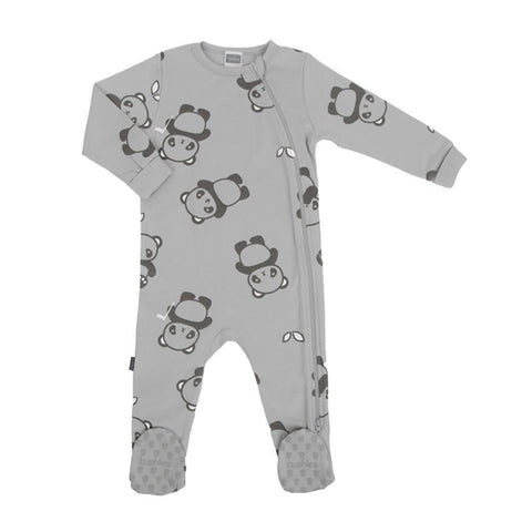 Kushies side zip sleeper - Wild & Free grey