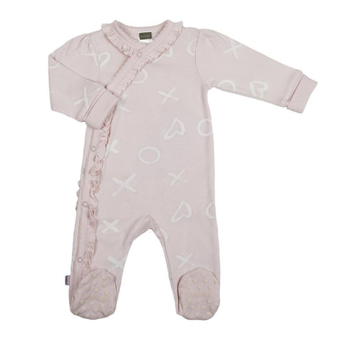 Kushies pink side snap sleeper