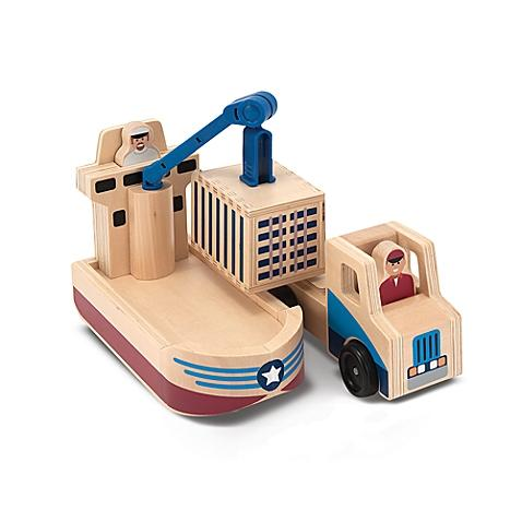 Melissa and Doug Cargo ship and truck