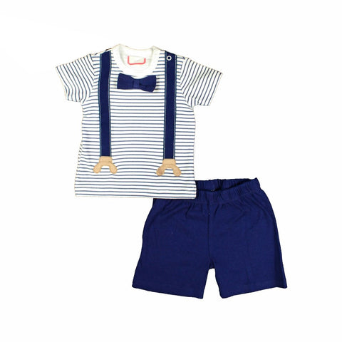 Rock a Bye infant boy's 2 pc short set