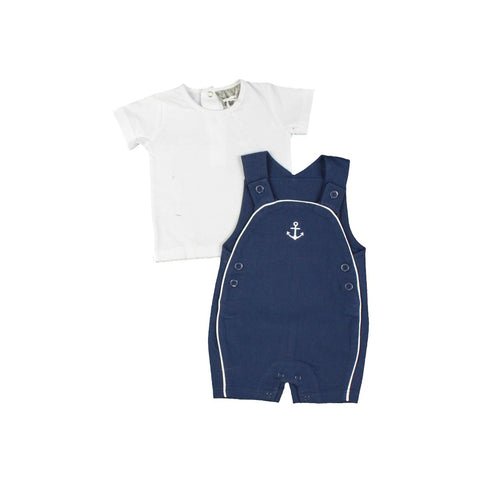 Rock a Bye infant boy's shortall set