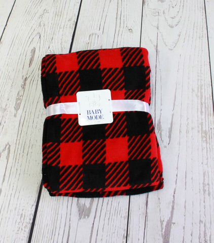 Baby Mode Buffalo plaid blanket