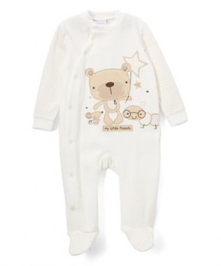 Rock a Bye Baby neutral velour sleeper