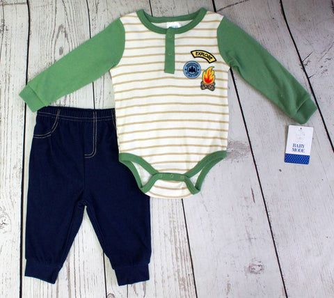 Baby Mode boy's 2 piece camp set