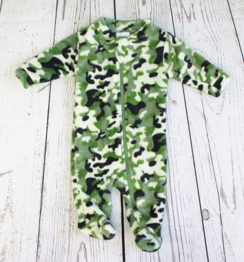 Baby Mode plush green camo sleeper