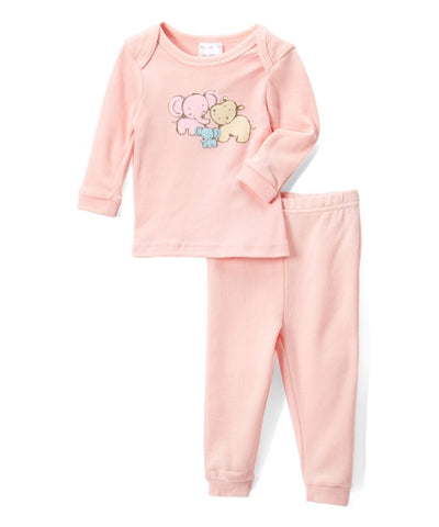 Baby Mode girl's 2- piece elephant pyjama
