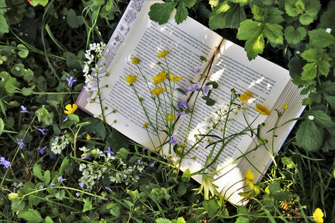 book with flowers