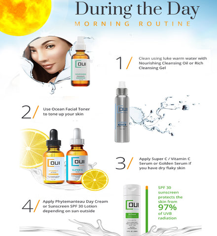 glow skin care - day skincare routine