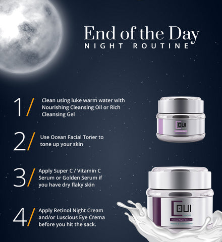glow skin care - night skincare routine