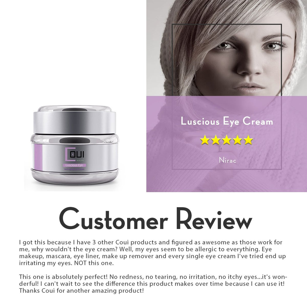COUI Luscious Eye Cream Customer Review