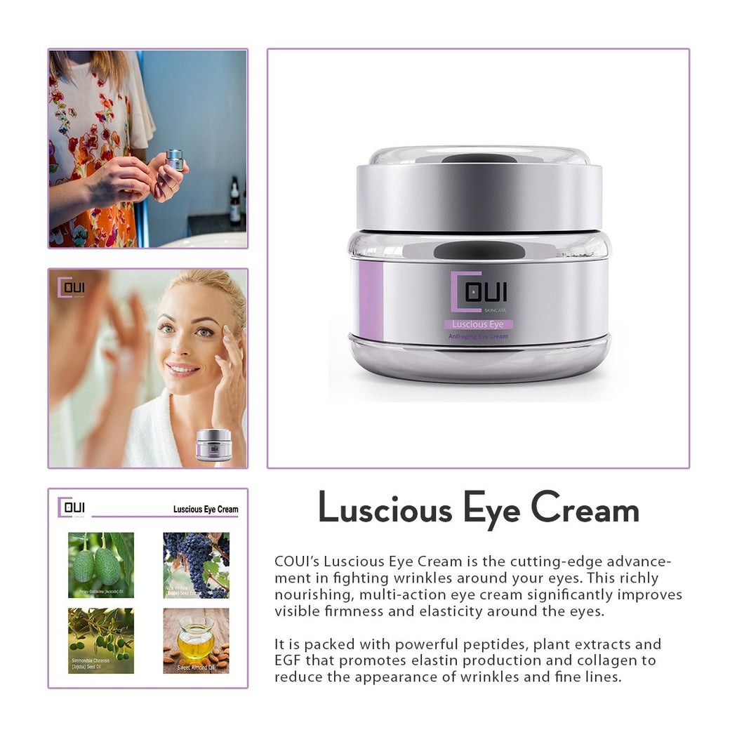 COUI Luscious Eye Cream Product Summary