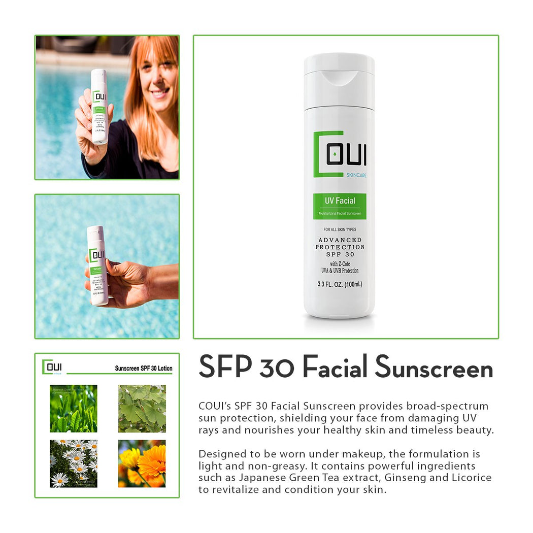 COUI Moisturizing SPF 30 Facial Sunscreen Lotion Product Summary