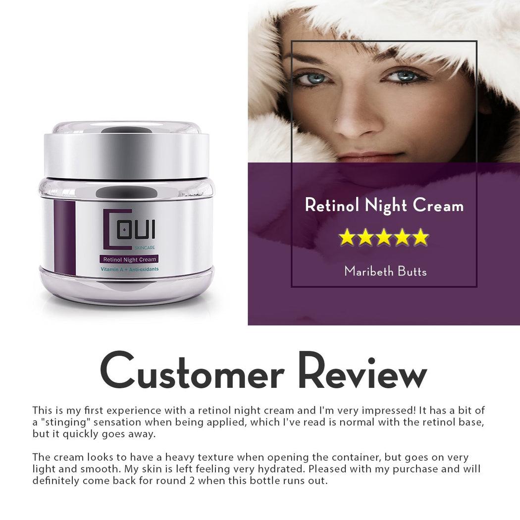 COUI Retinol Night Cream Customer Review