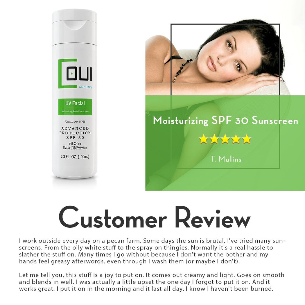 COUI Moisturizing SPF 30 Facial Sunscreen Lotion Product Review