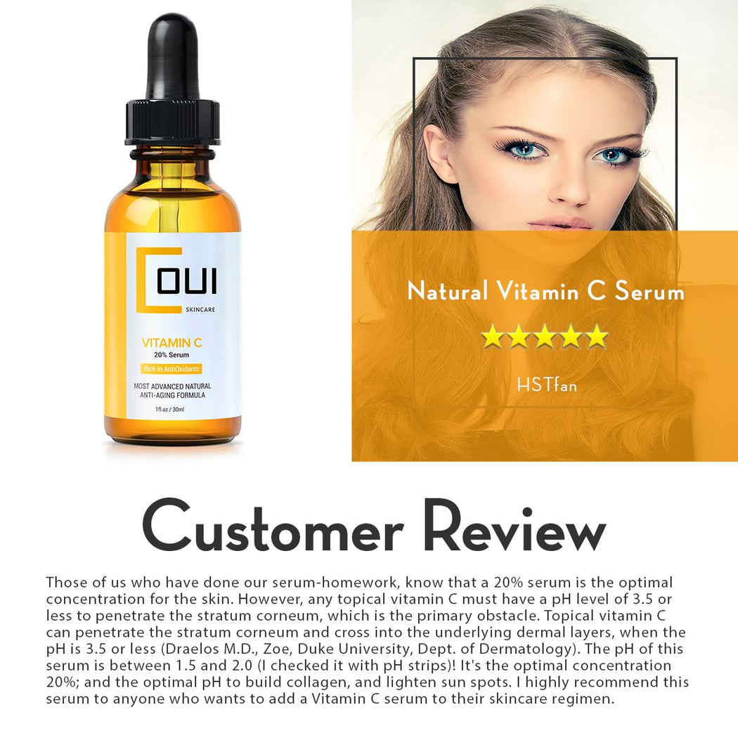COUI Natural Vitamin C Serum Customer Review