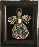 Framed Jewelry Art * Angel with Cameo