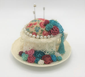 Tea Cup Pincushion * Vintage Style