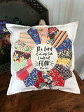 Vintage Quilt Block Pillow * Psalm 118:6