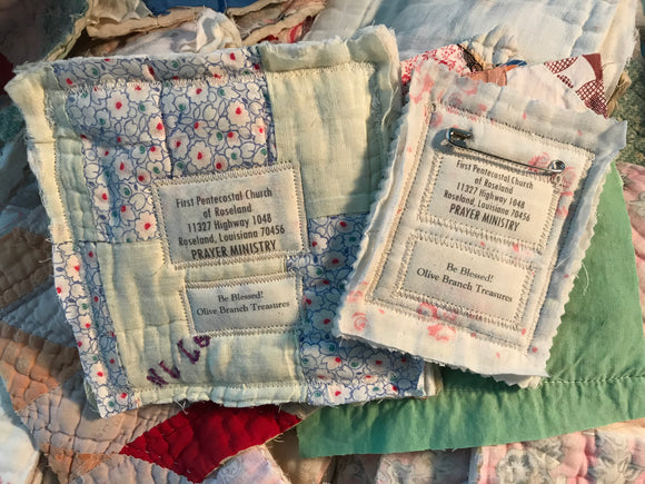 Pocket Prayer Quilt Square * Custom Labels* Wholesale Orders