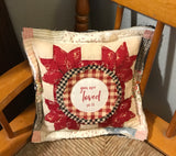 Vintage Quilt Pillow * You are loved