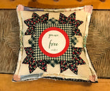 Vintage Quilt Pillow * You are Free