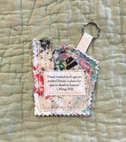 Mini Scripture Quilts * House Blessing Key Rings *1 Kings 8:13