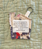 Mini Scripture Quilts * House Blessing Key Rings *Numbers 6:24-26