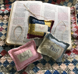 Hanging Mini Prayer Prompter Pillows * Lavender Scented