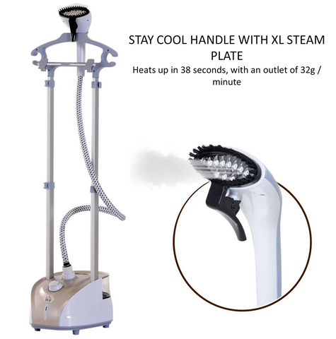 Best handheld steamer with a stay cool handle and built in ironing board – perfect for those difficult fabrics