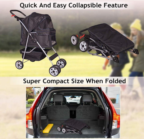Easy to store dog stroller - the best pet buggy