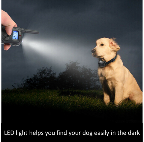 Our remote includes an LED light to help you locate your dog when walking in the dark.  This dog training collar operates in 3 different modes to help control different types of behaviour
