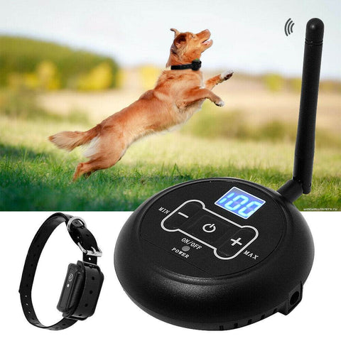 This wireless fence and collar ensures your dogs are safe and you have the best electric dog fence.