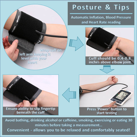 Follow four simple steps when using this aneroid sphygmomanometer to ensure that your blood pressure readings are accurate.  It provides both diastolic blood pressure and systolic blood pressure together with your heart rate .  All you need to do is ensure the reading is at least 30 minutes after any exercise or food consumption, sit down, attach the bp device and the automatic blood pressure monitor does all the work!