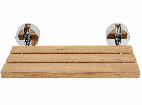 Teak bathroom bench – the folding wood shower seat can also double in the spa and gym
