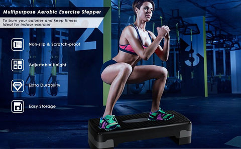 Low impact exercise equipment perfect for stepper workout to improve cardio