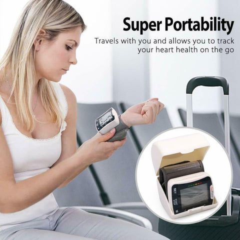 This blood pressure device is the best bp machine.  It is so easy to use and is portable with a handy carry case, so you can measure and monitor your pulse and blood pressure anywhere.