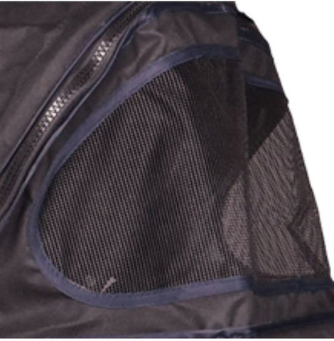 Pet stroller with mesh windows to secure your pet and keep them secure