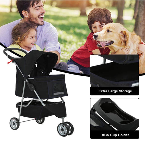 Dog puschair cat buggy for shopping running and taking them to the park - plenty of storage for toys