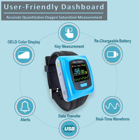 Our oxygen monitor is mini, portable and easy to use, making it one of the best oximeter on the market.  You can even use it as a peloton heart monitor as it straps easily onto your wrist.  The high accuracy of the readings gives you confidence that you can understand whether you need to discuss your blood oxygen saturation levels with your doctor.